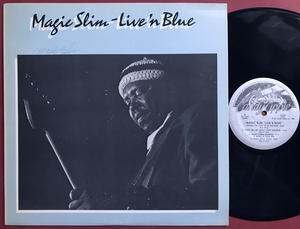 MAGIC SLIM - Live´n blue SIGNERAD LP 1980