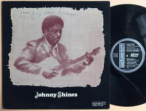 "JOHNNY SHINES - ""same"" SIGNERAD LP 1974"