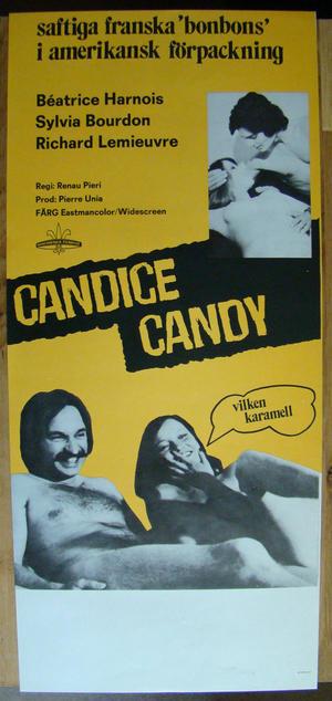 "Candice Candy  Saftiga franska ""bonbons"" - Poster 1977"