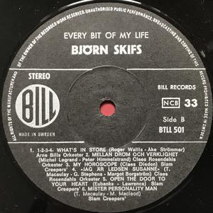 BJÖRN SKIFS - Every bit of my life Swe-orig LP 1970