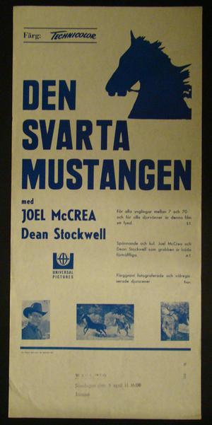 DEN SVARTA MUSTANGEN (JOEL MCCREA, DEAN STOCKWELL)