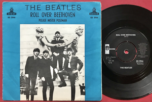 """BEATLES - Roll over Beethoven 7"""" BLUE Swe PS 1964"""
