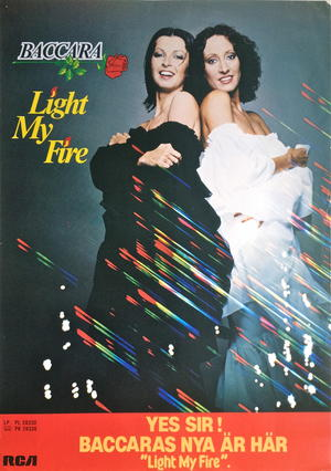BACCARA - Light my fire (1978) LP Promo poster