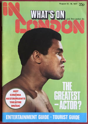 WHAT´S ON in LONDON - 12 Aug 1977 MUHAMMED ALI omslag
