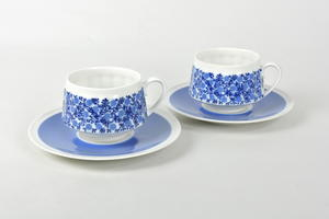 Kahvikupit ja alusvadit 2 kpl, Doria, RU