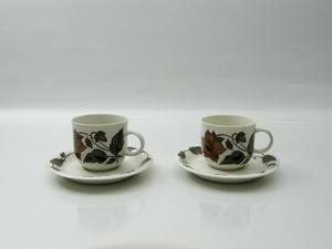 Kaffekopp och fat, 2 st, Cafe