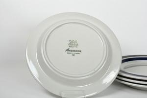 Assietter 4 st, Anemone, handmålad, UP