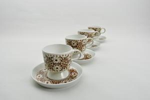 Kahvikupit 4 kpl, Ali, ruskea, RU