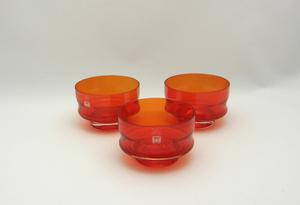 Efterrättskålar, 3 st, Röd