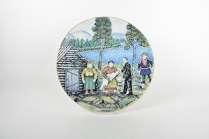 Konstnärstallrik 1984, Barndop, AA