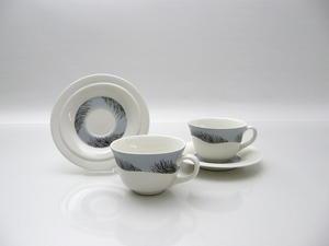 Kahvikupit ja alusvadit, 2 kpl, Merituuli, HLS