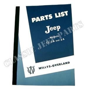Parts manual CJ2A/3A