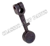 Heat control valve counterweight lever