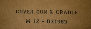 Canvas cover Browning cal .30 machine gun