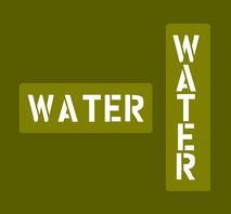 "Schablon vattendunk ""WATER"""