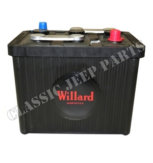 Battery 6 volt 98 ah Willard size 26x17x22cm
