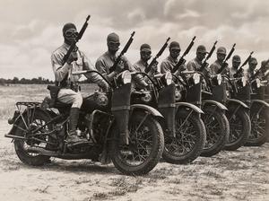 Leather Scabbard Thompson machine gun for Harley Davidsson