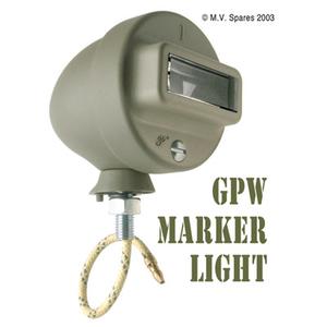 Marker light assembly left GPW F-script