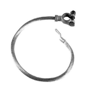 Battery ground cable round