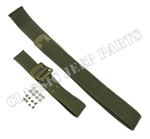 Jerrycan strap set Olive Drab hardware rivets C-tip and Anchor marked buckle