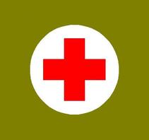 """Medic Red Cross Medical 4"""" in diameter"""