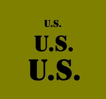 """U.S. Stencil for field gear set with 3 sizes 3"""" 2"""" and 1"""""""