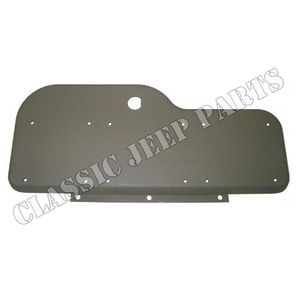 Glove box door with punched holes for data plates