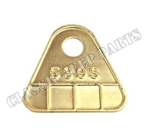 "Brass carburator tag ""539S"""