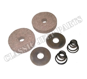 Pedal shaft felt grommets, with springs and washers WILLYS MB