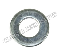Shock absorber mounting pin washer