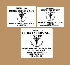 Burn injury Set