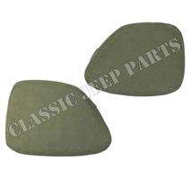 Canvas crash pads pair