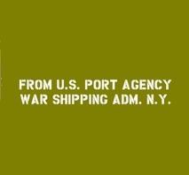 Shipping tillägg U.S. PORT AGENCY WAR SHIPPING ADM. N.Y. (NEW YORK)