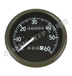 Hastighetsmätare miles kort visare sen MotoMeter WILLYS MB