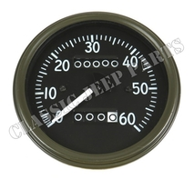 Speedometer miles short pointer late MotoMeter style WILLYS MB