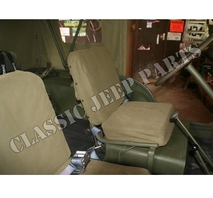 Front and rear seats canvas covers with hardware M38 M38A1