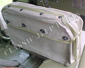 Canvas seat satchel front seat