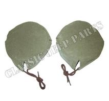 Canvas cover headlamp pair