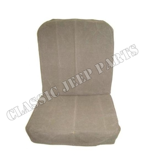 Front seats canvas cover CJ2A pair with hardware