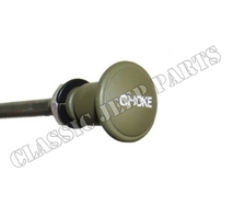 Zinc choke knob engraved letters with wire and cover FORD GPW early