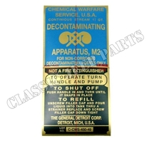 Decontaminator decal