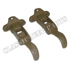 Windshield latch early brass pair