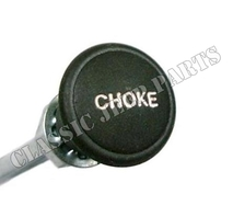 Plastic green choke knob with wire and cover