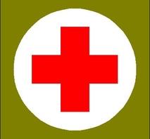 """Medic Red Cross Medical 6"""" in diameter"""