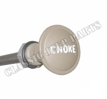 Stamped sheetmetal choke knob raised letters with wire and cover early