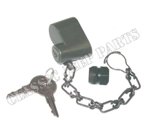 Spare wheel lock with nut and chain