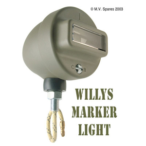 Marker light assembly left WILLYS MB C-B script