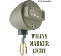 Mörkerljus i grill höger med kabel WILLYS MB C-B script