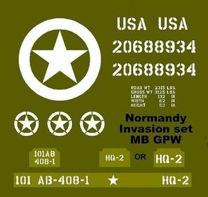 Normandy Invasion set  MB GPW