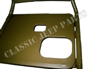 Driver seat frame with large mouth fuel filler opening